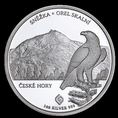 Stříbrná mince Sněžka 1 oz proof 2020